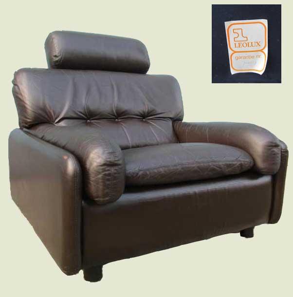 Leren Lounge Fauteuil.Vintage Leolux Leren Lounge Fauteuil
