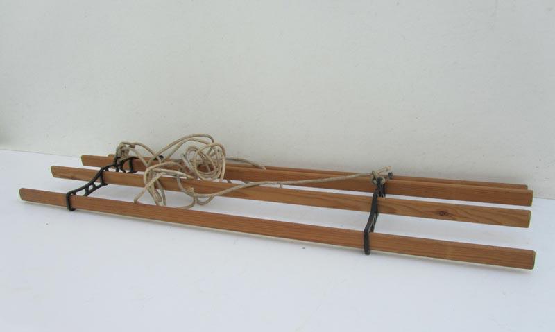 Hangend Rek Keuken : Vintage hangend kledingrek, handdoekrek