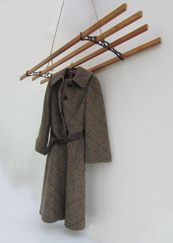 Vintage hangend kledingrek, handdoekrek