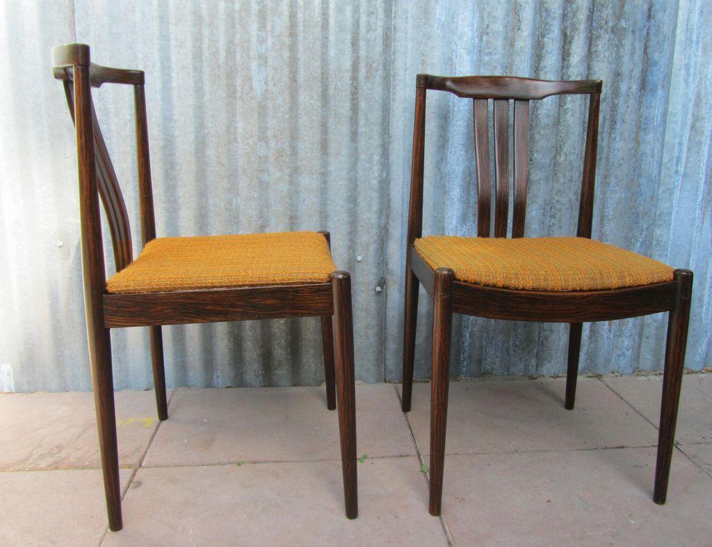 Vintge Mid Century Modern Danish Dining Chairs Set Of 2
