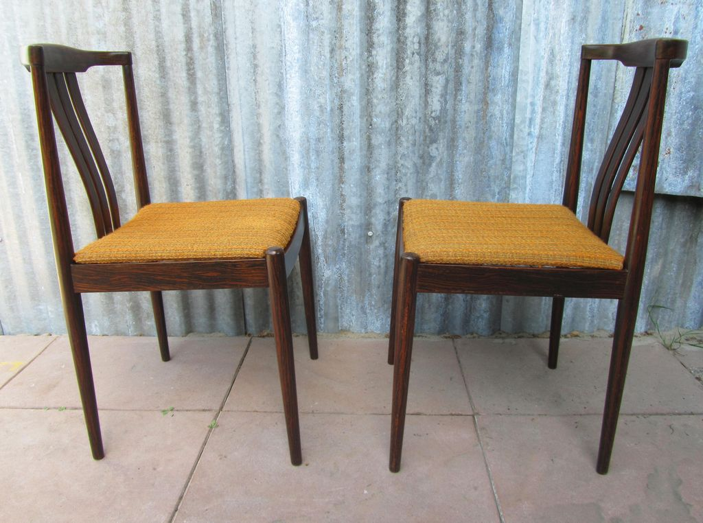 Vintage Rosewood Dining Chairs Palissander Stoelen Midcentury
