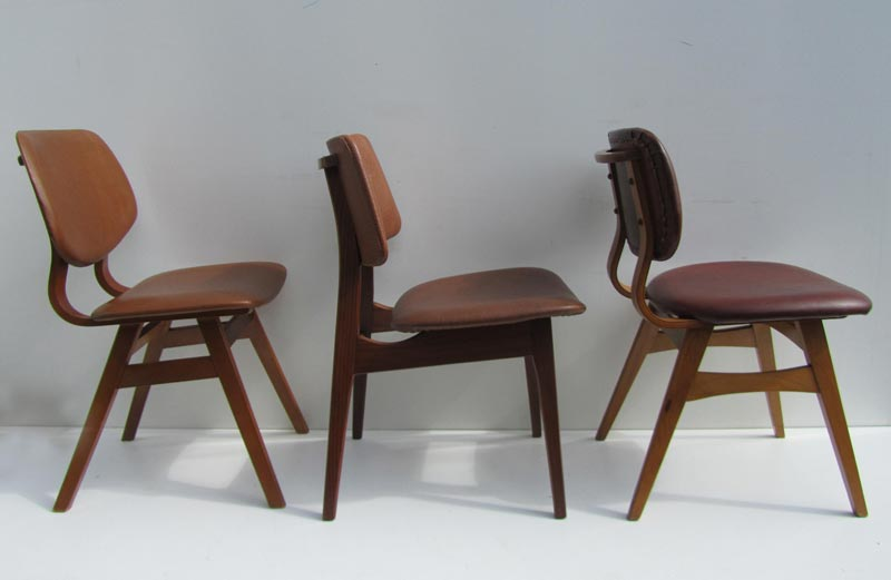 Vintage Design Eetkamerstoelen.Vintage Retro Skai Cafestoelen Eetkamerstoelen Prijs Per Stuk