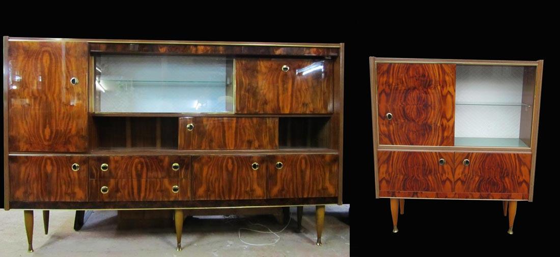 vintage retro wandmeubel dressoir vitrinekast. Black Bedroom Furniture Sets. Home Design Ideas