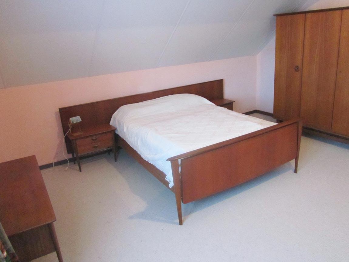 Original rare and complete vintage bedroom in teak wood designed ...