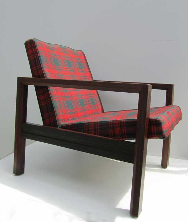 Modern Design Fauteuil.Vintage Wenge Easy Chair Spectrum