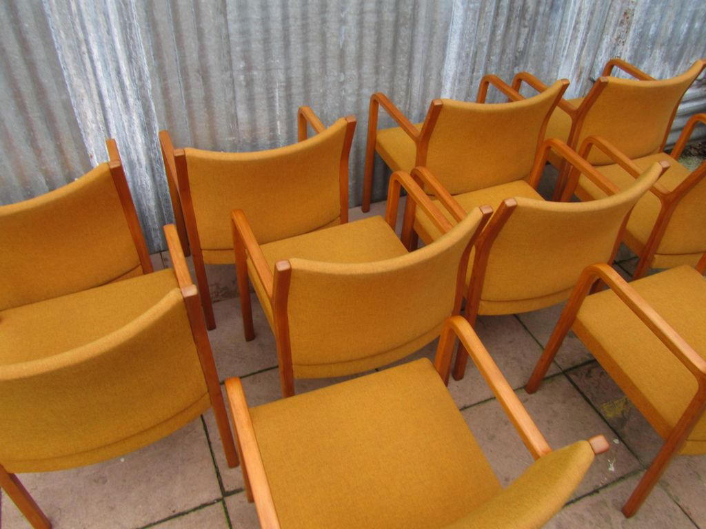 Set Of 10 Midcentury Wilkhahn Side Chairs 1960s