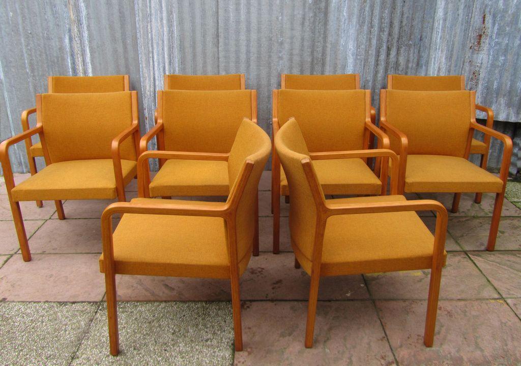 retro vintage wilkhahn armstoel fauteuil kantoorstoel. Black Bedroom Furniture Sets. Home Design Ideas